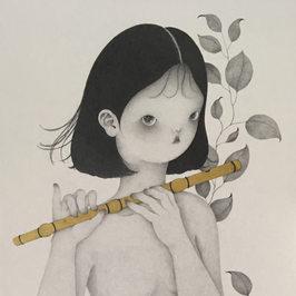 피리부는소녀-외로운건 싫어서  (a flute girl)_SOLD