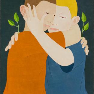 두 사람-포옹 116.8cm x 91cm Oil on canvas 2017.jpg