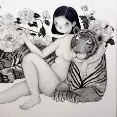 호시절 A good time (with a tiger)_SOLD