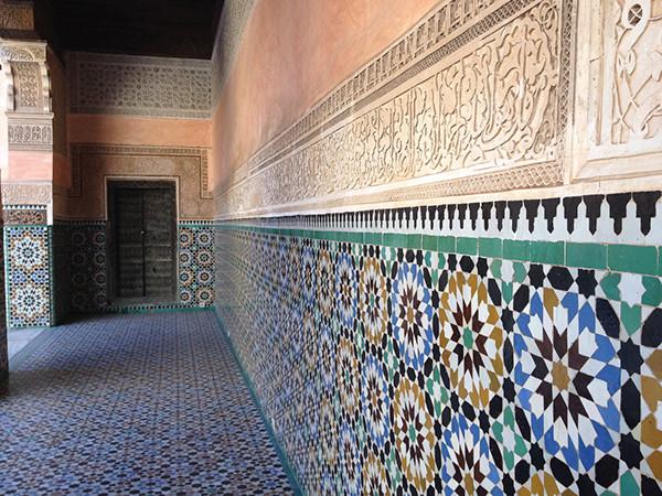 """Morocco. Hallway with """"alicatado"""" ( tiling)"""