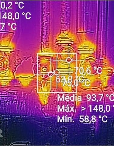 Termografia em colector de distribuição de vapor
