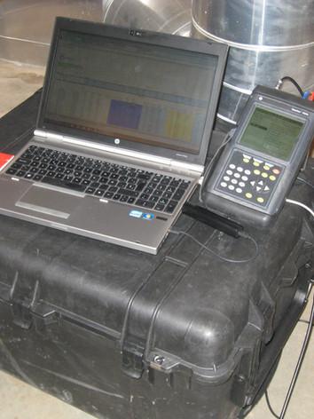 Medição térmica para cálculo de rendimento de caldeira