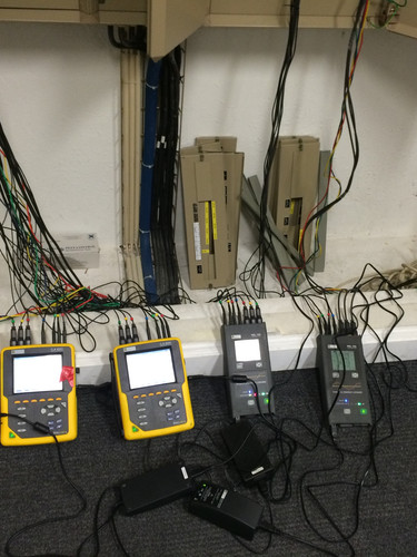 Medições eléctricas em edifícios de escritório