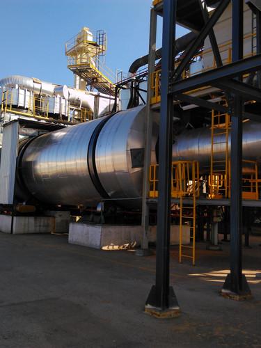 Verificação de isolamento térmico em secador de matéria prima