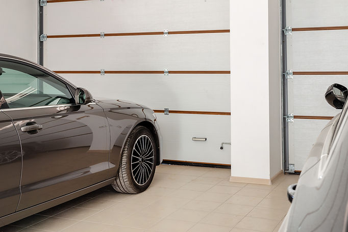 Car inside a Garage