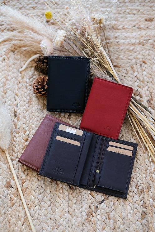 Porte feuille format poche cuir souple