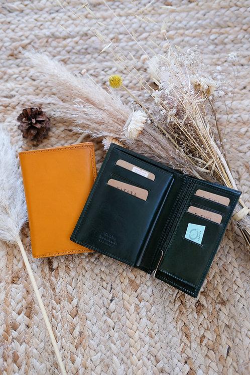 Porte feuille format moyen cuir lisse