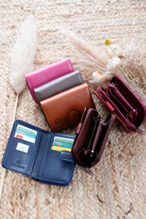 Porte monnaie cuir lisse