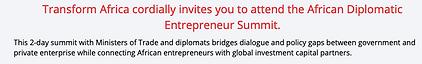 African Diplomatic Entrepreneur Summit