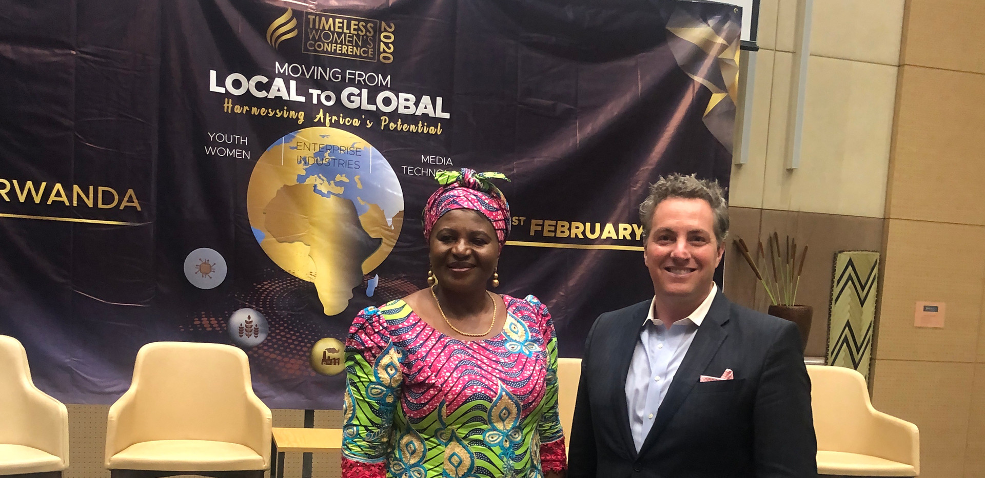First Lady of Malawi and Dr. Rollan Robe