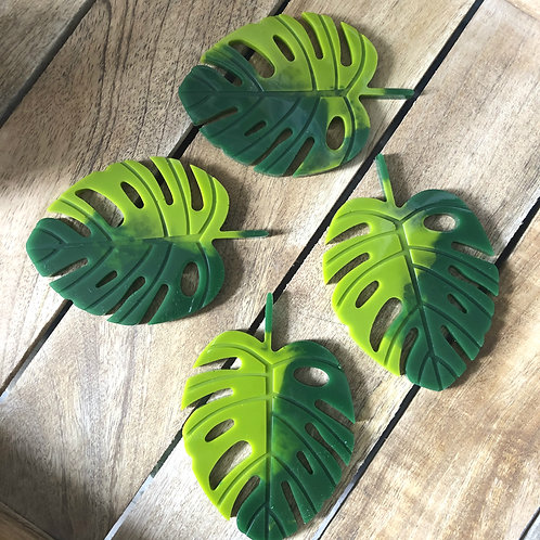 Resin monstera cheese plant palm coasters green houseplants heat resistant