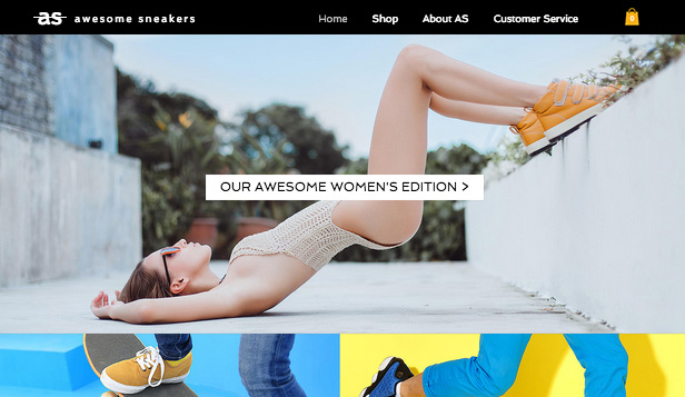Jewelry & Accessories website templates – Sneakers Shop