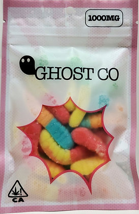 Ghost Gummy Worms 1000mg