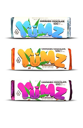 Yumz Chocolate Bars 600mg