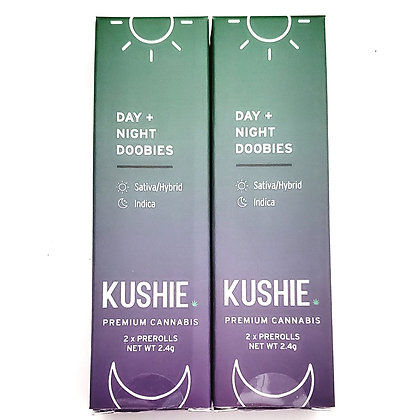 Kushie Day Night 2 pack Doobies 2.4 grams