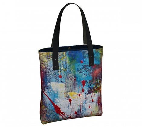 Sac classique produit dérivé des oeuvres abstraites de l'artiste peintre Gisèle Vivier