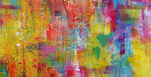 détail peinture abstraite de l'artiste p