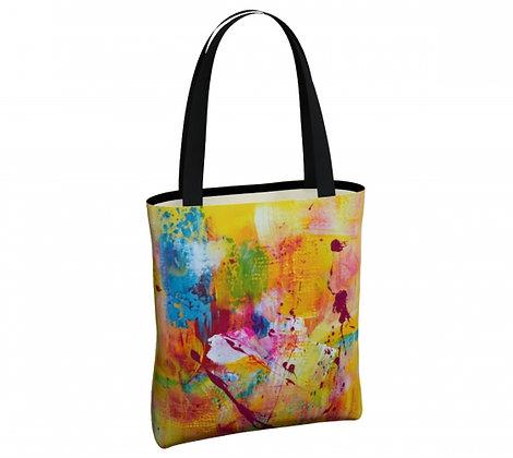 sac jaune de l'artiste peintre Gisèle Vivier