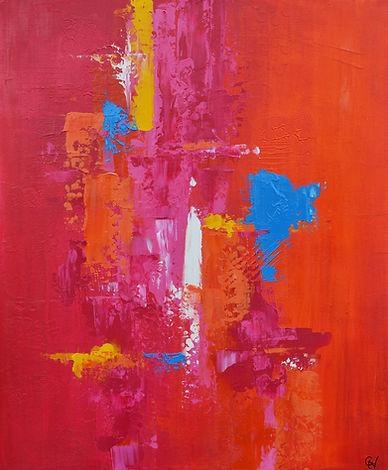 Art abstrait - peintre acrylique Gisèle Vivier artiste peintre