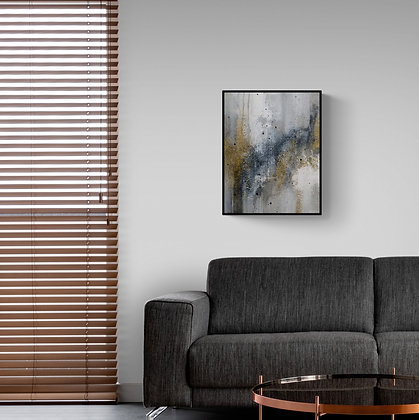 salon-Mise en situation de la peinture abstraite de l'artiste peintre Gisèle Vivier