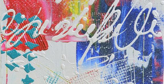 détail peinture abstraite de Gisèle Vivi