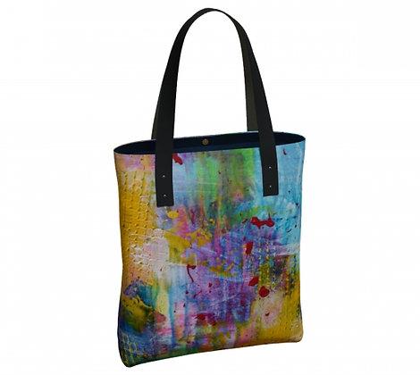 sac produit dérivé de l'oeuvre abstraite de l'artiste peintre Gisèle Vivier