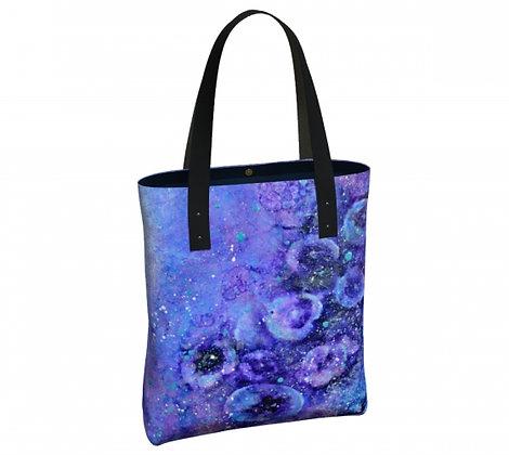 sac violet à bandoulière de l'artiste peintre Gisèle Vivier