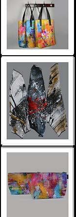 Art abstrait produits dérivés de l'artiste Gisèle Vivier