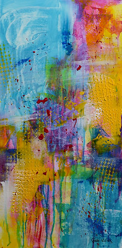 Peinture abstraite contemporaine par l'a