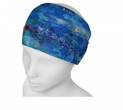 bandeau bleu pour femme. produit dérivé de l'artiste peintre Gisèle Vivier