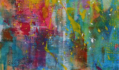 détail de la peinture de Gisèle Vivier,
