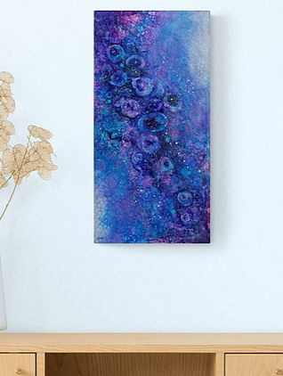 Reproduction de l'oeuvre abstraite de l'artiste peintre Gisele Vivier par ACTION DECO