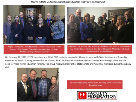 FFECC participates in NYSUT Higher education lobby days