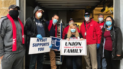 NYSUT Higher Ed. members & NYSUT staff delivered lunches to our front line health care workers t