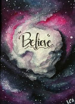 believe- acuarela