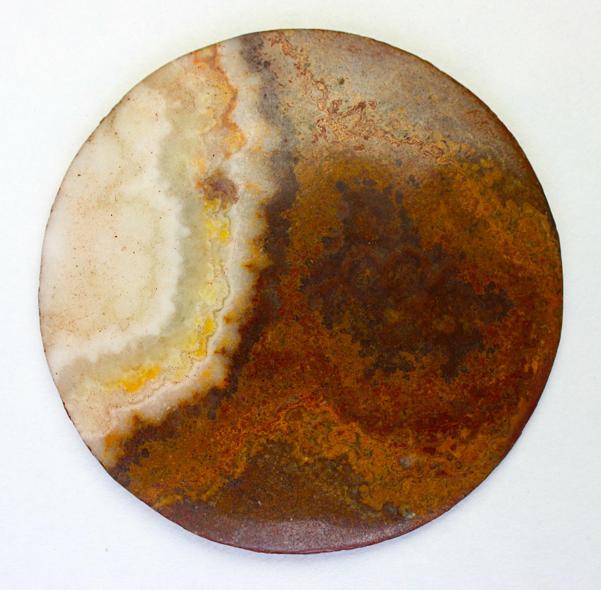 Pieza ovalada en mármol