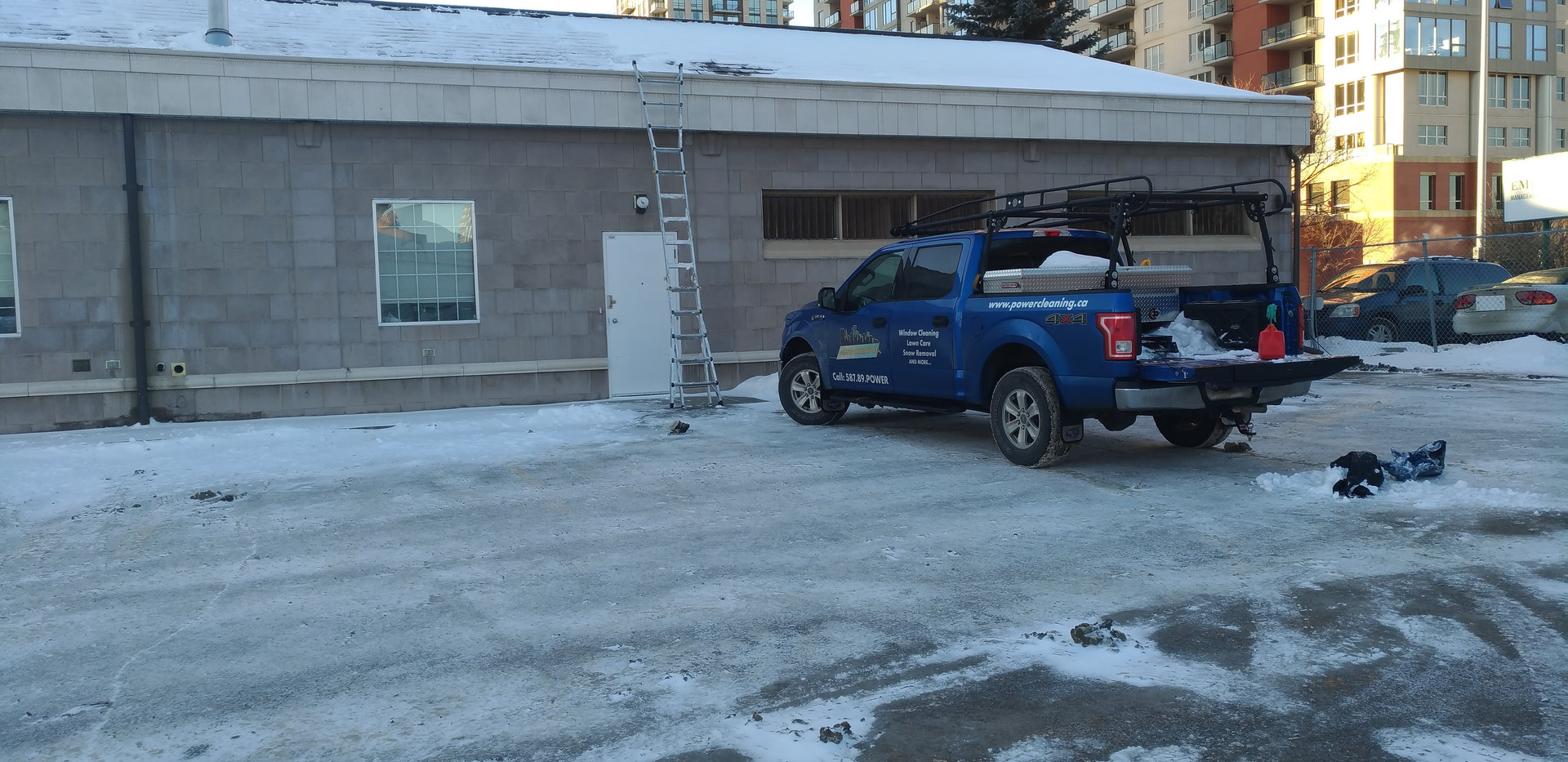 Commercial Snow Removal - roof clearing