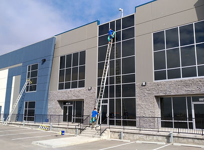 Commercial Window Cleaning - sometimes y