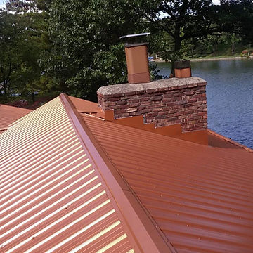 Copper Matallic Roof