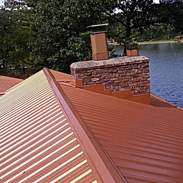 Copper Matallic Roof