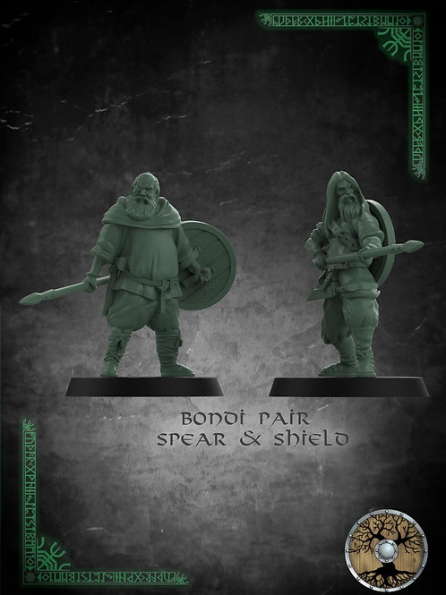 Bondi Pair with Spear and Shield