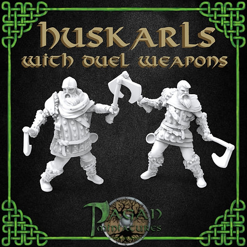 Huskarl Pair With Duel Weapons