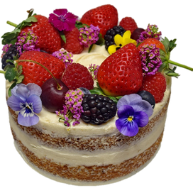 Semi naked small with fruits and edible flowers