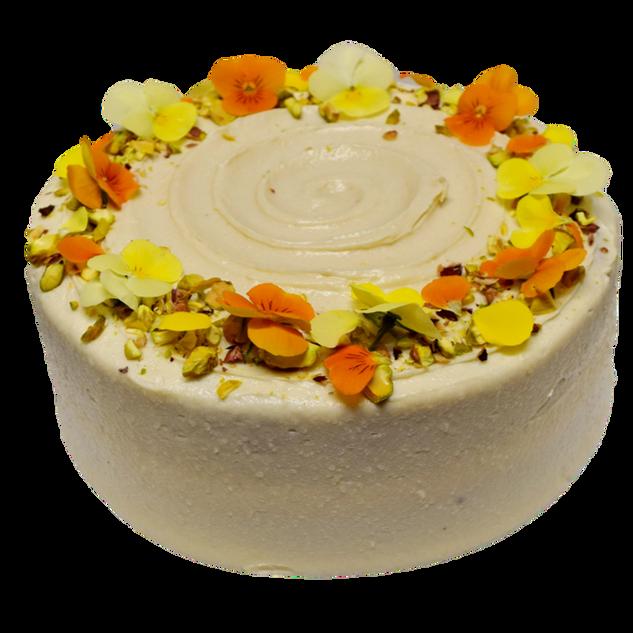 vanilla icing small with yellow and oran