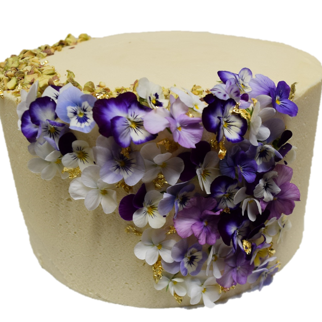 vanilla iced with lilac floral waterfall