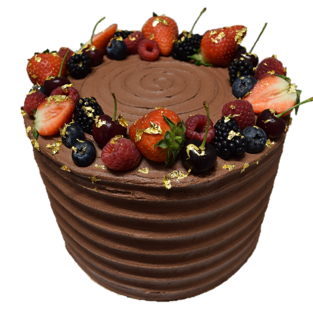 horizontal tall chocolate iced circled w