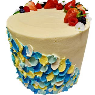 vanilla iced tall with coloured petals l