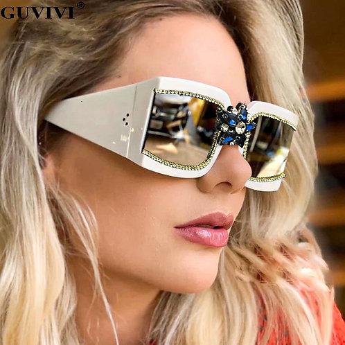 Women 2020 Rhinestone Vintage Sunglasses Square Retro Sunglasses
