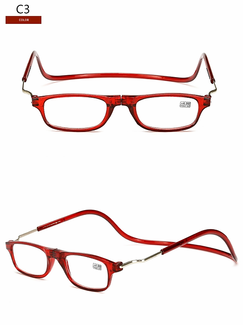 Reading Glasses w/adjustable hoop and magnetic halter