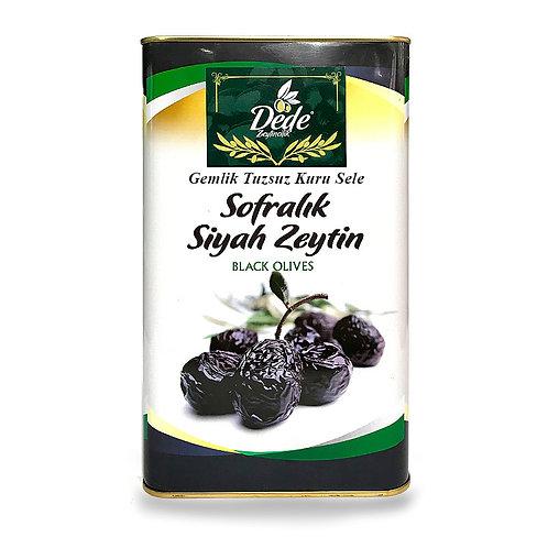 Gemlik Sofralık Kuru Sele (Tuzsuz) Siyah Zeytin 5kg